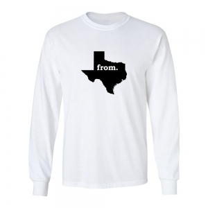 Long Sleeve Polyester T-Shirt - Texas