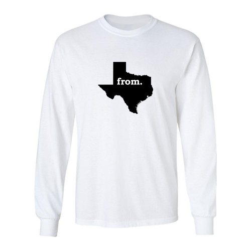 Long Sleeve Cotton T-Shirt - Texas