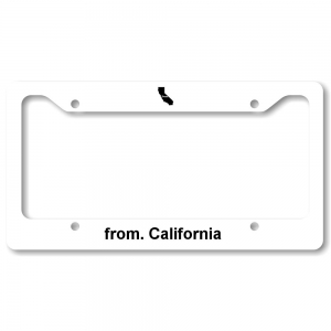 License Plate Frame - California