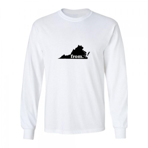 Long Sleeve Polyester T-Shirt - Virginia