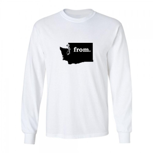 Long Sleeve Polyester T-Shirt - Washington