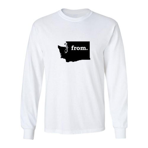 Long Sleeve Cotton T-Shirt - Washington