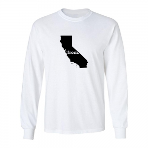Long Sleeve Polyester T-Shirt - California