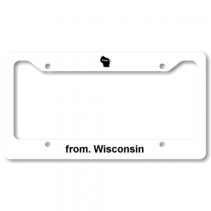 License Plate Frame - Wisconsin
