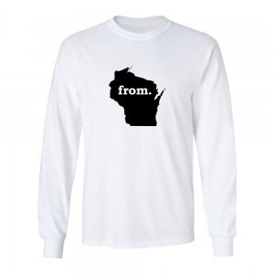 Long Sleeve Cotton T-Shirt - Wisconsin