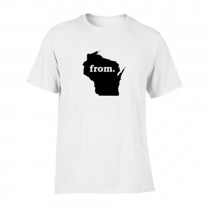 Short Sleeve Cotton T-Shirt - Wisconsin