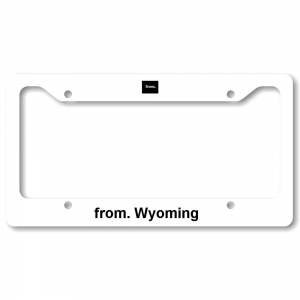 License Plate Frame - Wyoming