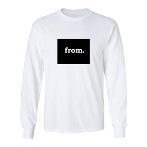 Long Sleeve Cotton T-Shirt - Wyoming