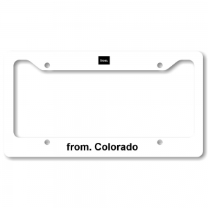 License Plate Frame - Colorado