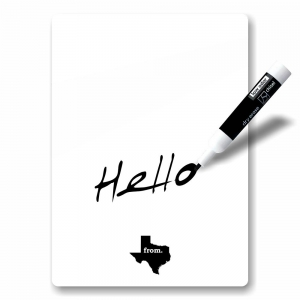 Dry Erase Board - Texas