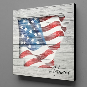 Canvas Wall Art - US Flag Arkansas