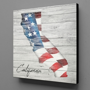 Canvas Wall Art - US Flag California