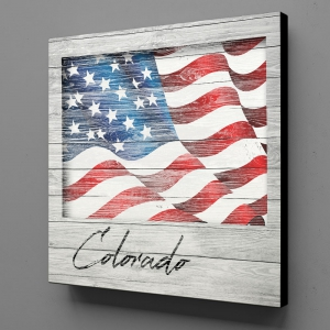 Canvas Wall Art - US Flag Colorado