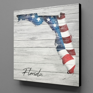 Canvas Wall Art - US Flag Florida