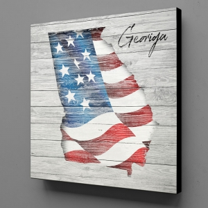 Canvas Wall Art - US Flag Georgia