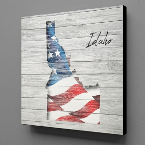 Canvas Wall Art - US Flag Idaho
