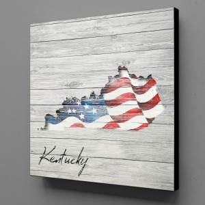 Canvas Wall Art - US Flag Kentucky