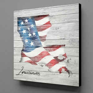 Canvas Wall Art - US Flag Louisiana