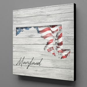 Canvas Wall Art - US Flag Maryland
