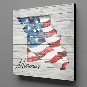 Canvas Wall Art - US Flag Missouri