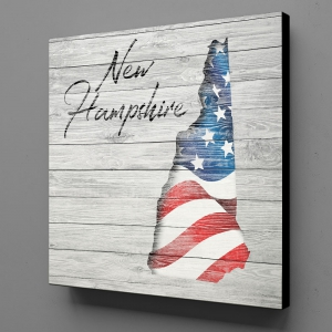 Canvas Wall Art - US Flag New Hampshire