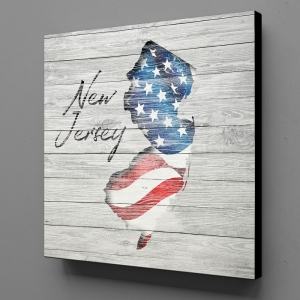Canvas Wall Art - US Flag New Jersey