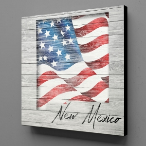 Canvas Wall Art - US Flag New Mexico