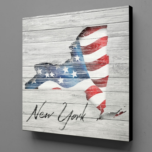 Canvas Wall Art - US Flag New York
