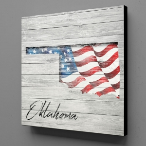 Canvas Wall Art - US Flag Oklahoma