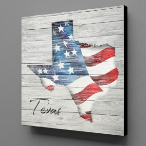 Canvas Wall Art - US Flag Texas