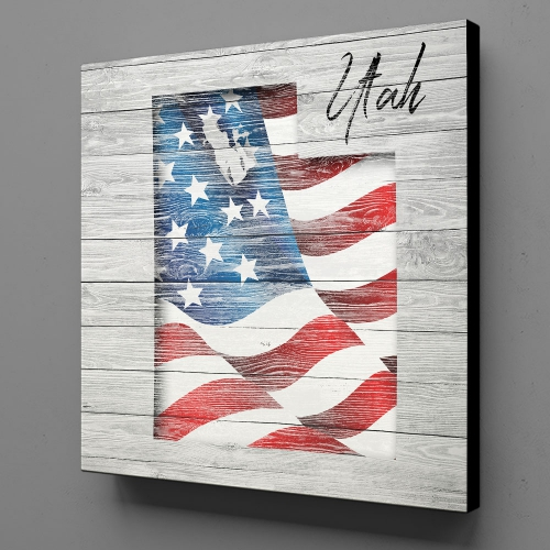 Canvas Wall Art - US Flag Utah