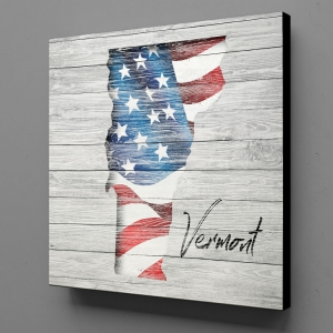 Canvas Wall Art - US Flag Vermont