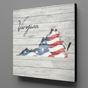 Canvas Wall Art - US Flag Virginia