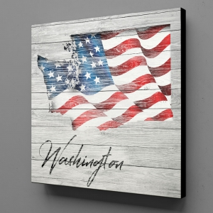 Canvas Wall Art - US Flag Washington