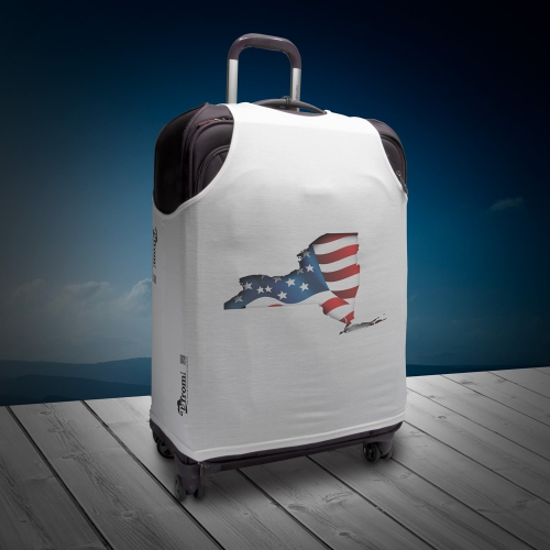 Luggage T - New York with Flag