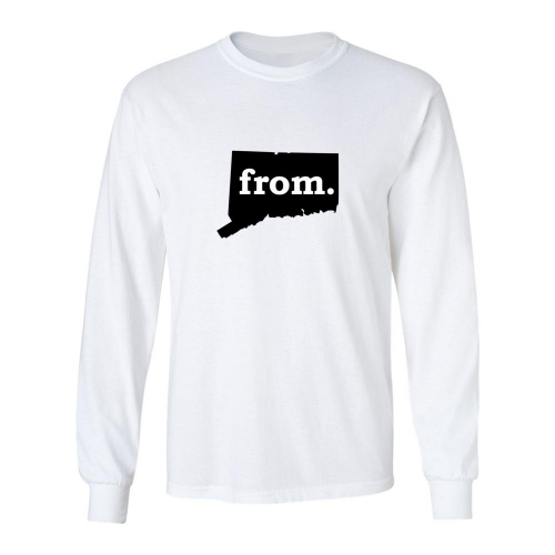Long Sleeve Polyester T-Shirt - Connecticut
