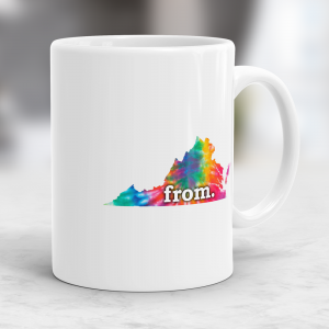 Coffee Mug - Virginia - Tie Dye