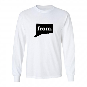 Long Sleeve Cotton T-Shirt - Connecticut