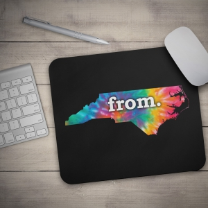 Mouse Pad - North Carolina - Tie Dye