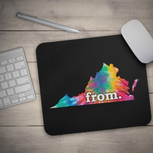 Mouse Pad - Virginia - Tie Dye