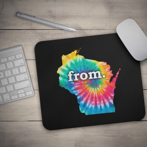 Mouse Pad - Wisconsin - Tie Dye