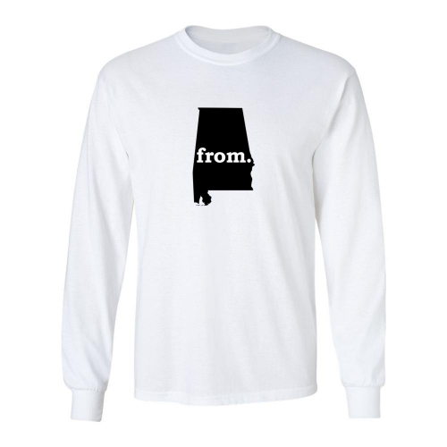Long Sleeve Polyester T-Shirt - Alabama