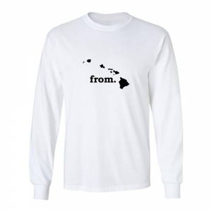 Long Sleeve Cotton T-Shirt - Hawaii