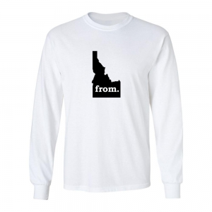 Long Sleeve Cotton T-Shirt - Idaho
