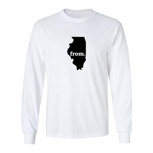 Long Sleeve Polyester T-Shirt - Illinois
