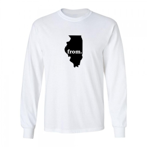 Long Sleeve Cotton T-Shirt - Illinois