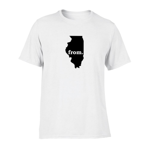 Short Sleeve Polyester T-Shirt - Illinois
