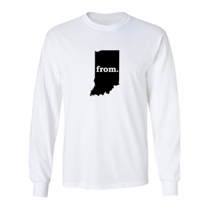 Long Sleeve Cotton T-Shirt - Indiana