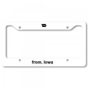 License Plate Frame - Iowa
