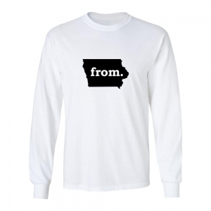 Long Sleeve Polyester T-Shirt - Iowa